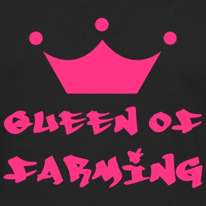 Queen of Farming T-shirts - Långärmad premium-T-shirt herr