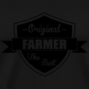 The Best Farmer Flaskor & muggar - Premium-T-shirt herr
