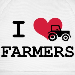 I Love Farmers Bottles & Mugs - Baseball Cap