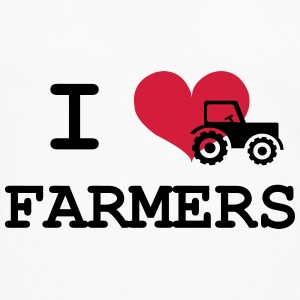 I Love Farmers Bottles & Mugs - Men's Premium Longsleeve Shirt