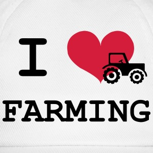 I Love Farming Sweaters - Baseballcap