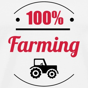 100% Farming Caps & Hats - Men's Premium T-Shirt
