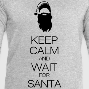 keep calm and wait for santa Tee shirts - Sweat-shirt Homme Stanley & Stella