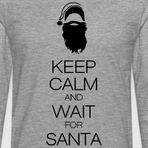 keep calm and wait for santa Tee shirts - T-shirt manches longues Premium Homme