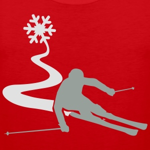 Skiers with snowflake T-Shirts - Men's Premium Tank Top