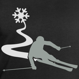 Skiers with snowflake T-Shirts - Men's Sweatshirt by Stanley & Stella