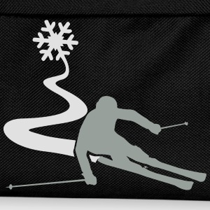 Skiers with snowflake T-Shirts - Kids' Backpack
