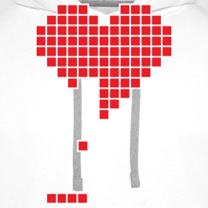 Broken heart Tee shirts - Sweat-shirt à capuche Premium pour hommes