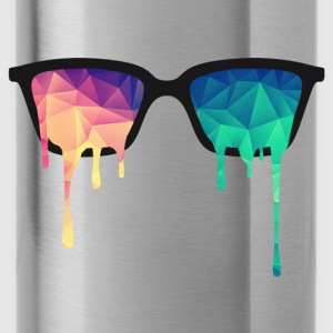 Abstract Psychedelic Nerd Glasses with Color Drops Caps & luer - Drikkeflaske
