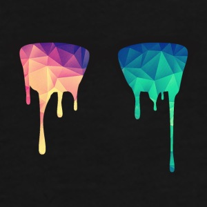 Abstract Psychedelic Nerd Glasses with Color Drops Caps & Hats - Men's Premium T-Shirt