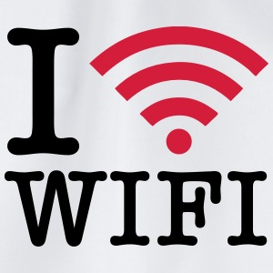I Love WIFI T-Shirts - Drawstring Bag