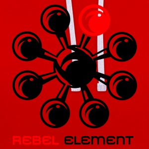 Rouge rebel_element Hommes - Sweat-shirt contraste