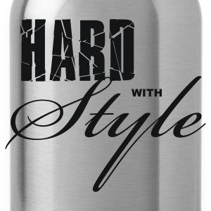 Zwart Hard with Style Heren t-shirts - Drinkfles