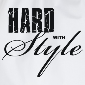 Wit Hard with Style Heren t-shirts - Gymtas