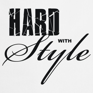 Wit Hard with Style Heren t-shirts - Keukenschort