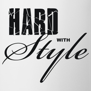 Wit Hard with Style Heren t-shirts - Mok