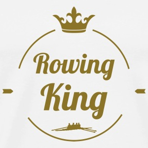 Rowing King Caps & luer - Premium T-skjorte for menn