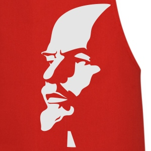 Red rus_lenin_portrait_1c01 Men's Tees (short-sleeved) - Cooking Apron