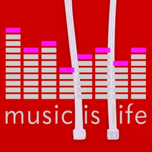 Music is life Equalizer / Music is life equaliser T-Shirts - Contrast Colour Hoodie