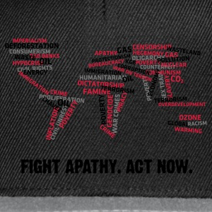 Fight Apathy, Act Now (v1, 3c, MPdk) - Snapback Cap