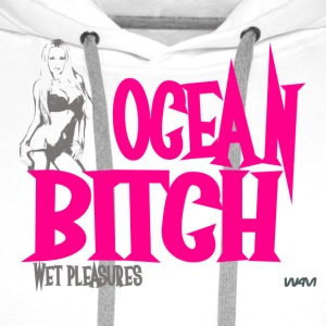 Blanc ocean bitch pink by wam T-shirts - Sweat-shirt à capuche Premium pour hommes