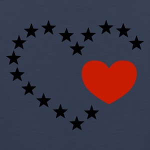 Dark navy hart van sterren / heart of stars (open, 1c) T-shirts - Mannen Premium tank top