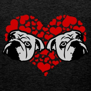 Olive bulldog_love_v1_3c Men's Tees - Men's Premium Tank Top