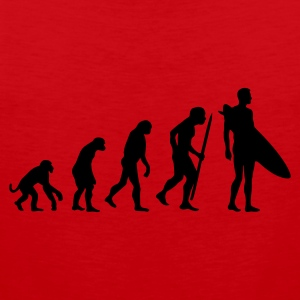 Red Evolution of Surfing Men's Tees - Men's Premium Tank Top