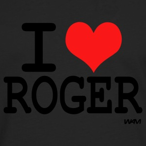 Noir i love roger by wam ( tribute to federer ) T-shirts - T-shirt manches longues Premium Homme