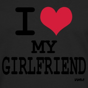 Zwart i love my girlfriend by wam T-shirts - Mannen Premium shirt met lange mouwen