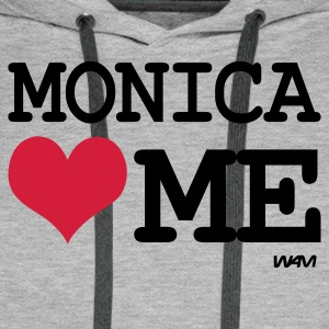 Gris chiné monica loves me by wam T-shirts - Sweat-shirt à capuche Premium pour hommes