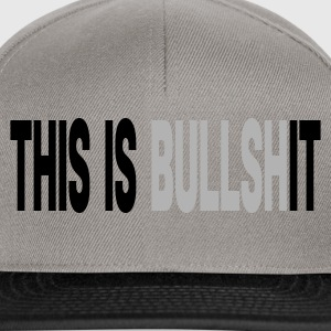 Gris chiné THIS IS bullshIT T-shirts - Casquette snapback