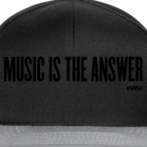 Black music is the answer by wam Men's T-Shirts - Snapback Cap