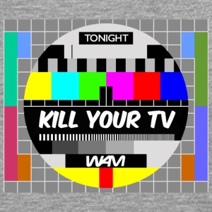 Gråmelerad kill your tv by wam T-shirts - Långärmad premium-T-shirt herr