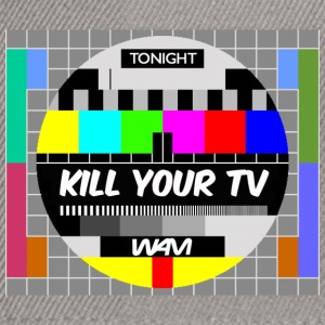 Gråmelerad kill your tv by wam T-shirts - Snapbackkeps