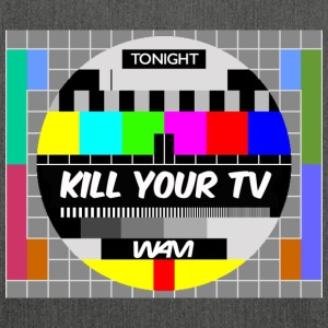Gråmelerad kill your tv by wam T-shirts - Axelväska av återvinningsmaterial