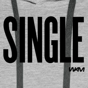 Gråmelerad single by wam T-shirts - Premiumluvtröja herr