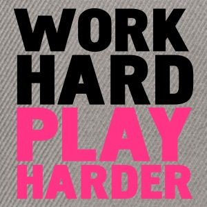 Gråmelerad work hard play harder T-shirts - Snapbackkeps