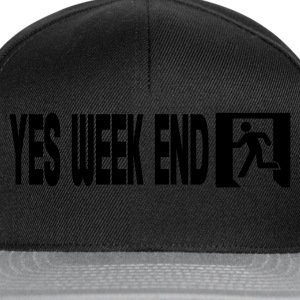 Zwart yes week end T-shirts - Snapback cap