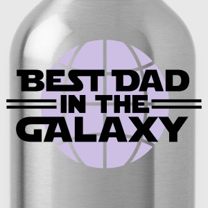 Black Best dad in the galaxy Men's T-Shirts - Water Bottle
