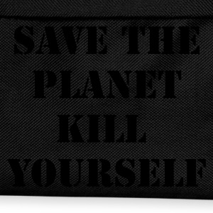 Zwart save the planet kill yourself T-shirts - Rugzak voor kinderen