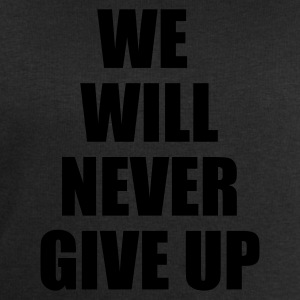 Nero we will never give up T-shirt - Felpa da uomo di Stanley & Stella