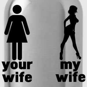 your wife vs my wife T-Shirts - Water Bottle