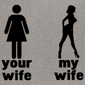 your wife vs my wife T-Shirts - Snapback Cap