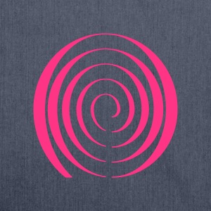 Psychedelic Blacklight T-Shirt Spiral - Schultertasche aus Recycling-Material