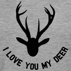 i love you my deer T-shirts - Mannen Premium shirt met lange mouwen