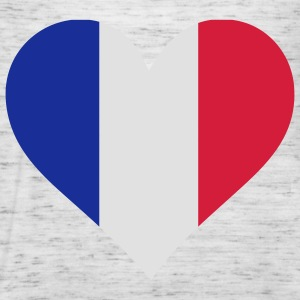 Heart Love France (3c) T-shirts - Dame tanktop fra Bella