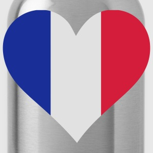 Heart Love France (3c) T-shirts - Drikkeflaske