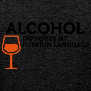 Alcohol improves my Foreign Language (2c) T-paidat - Miesten premium hihaton paita