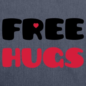 Free Hugs (V) T-Shirts - Schultertasche aus Recycling-Material